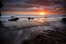 Sky Fire - St. Pauls Beach, Sorrento, Victoria, Australia by Sean Farrow