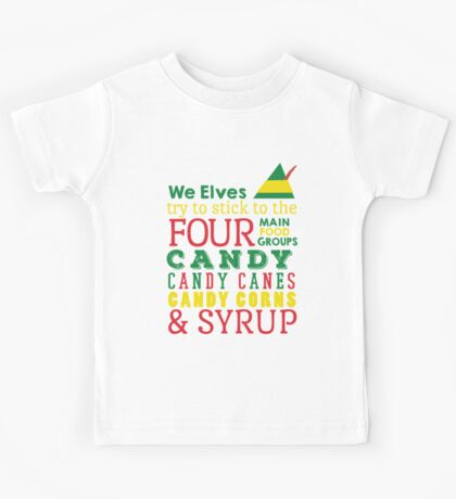 Candy, Candy Canes, Candy Corn, & Syrup Kids Tee