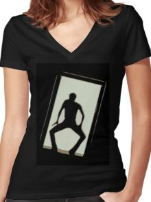 Michael Jackson Women's Fitted V-Neck T-Shirt