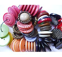 COLOURED BUTTONS Photographic Print