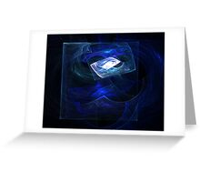 Tumbled Blue Notes Greeting Card