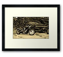 Fig's Bike Framed Print