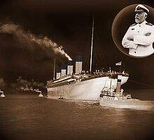 ☝ ☞ EJ SMITH CAPTAIN OF THE TITANIC-Titanic leaving Belfast with two guiding tugs ☝ ☞ by ✿✿ Bonita ✿✿ ђєℓℓσ