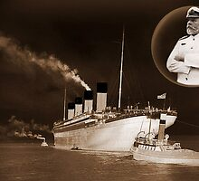 ☝ ☞ EJ SMITH CAPTAIN OF THE TITANIC-Titanic leaving Belfast with two guiding tugs CARD SIZE ☝ ☞ by ╰⊰✿ℒᵒᶹᵉ Bonita✿⊱╮ Lalonde✿⊱╮