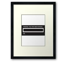 RAM Design You've been Erased Plate #7 Framed Print