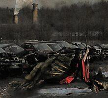 Urban Dragon Slayer - Urban Fantasy Art by Galen Valle