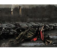 Urban Dragon Slayer - Urban Fantasy Art Photographic Print