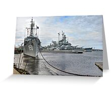 Battleship Cove (HDR) Greeting Card