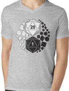 Gaming Yin Yang Mens V-Neck T-Shirt