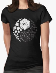 Gaming Yin Yang Womens Fitted T-Shirt