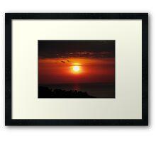 Manuel Antonio Sunset Framed Print