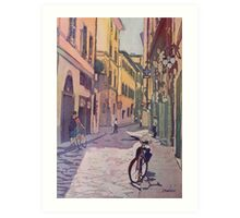 Waiting Bike Art Print