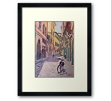 Waiting Bike Framed Print
