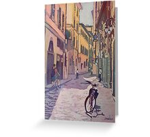 Waiting Bike Greeting Card