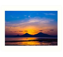 Twin Peak Sunrise Art Print