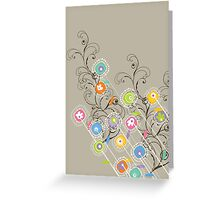 My Groovy Flower Garden Greeting Card