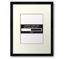 RAM Design ..but what are you? Plate #24 Framed Print
