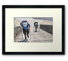Portomarin Steps, Camino de Santiago, Spain Framed Print