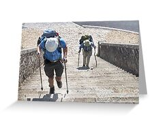 Portomarin Steps, Camino de Santiago, Spain Greeting Card