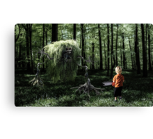 I Saw Something in the Woods Canvas Print