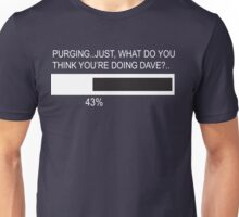 RAM Design What do you think you're doing Dave Plate #33 Unisex T-Shirt