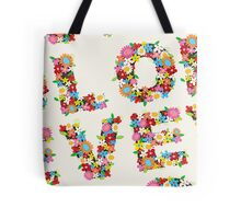 LOVE Spring Flowers Tote Bag