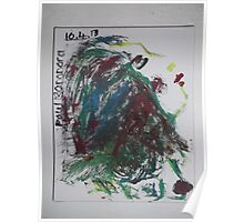 Imaginary female head/breasts -(100413)- Canvas/Watercolour paints Poster
