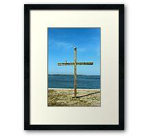 Seagulls On The Cross Framed Print