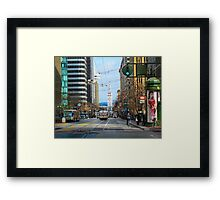 End of Market and the Ferry Building Framed Print