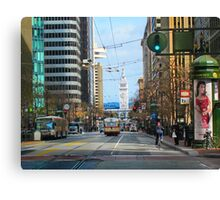 End of Market and the Ferry Building Canvas Print
