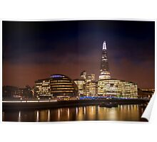 The Shard at night, London. Poster