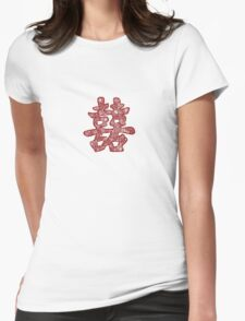 """Floral Papercut """"Double Happiness"""" Symbol T-Shirt"""