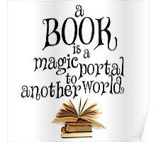 Book is a magic portal Poster