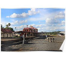 The Old Train Station Poster