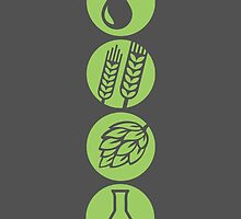 BEER: Water, Barley, Hops & Yeast by baridesign