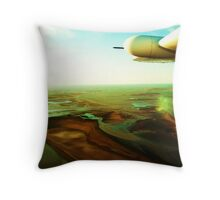 Airborne over Tidal Flats, Derby, WA Throw Pillow