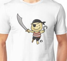 Little Cute Pirate with Sword Unisex T-Shirt