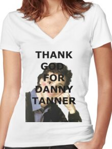 Thank God for Danny Tanner Women's Fitted V-Neck T-Shirt
