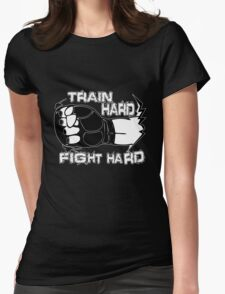 Fight Hard MMA  Womens Fitted T-Shirt