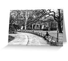 Reading in the Park Greeting Card