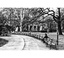 Reading in the Park Photographic Print