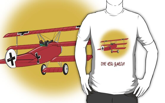 The Red Baron WW1 Fighter Ace T-shirt by Dennis Melling