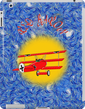 The Red Baron WW1 Fighter Ace iPad case by Dennis Melling