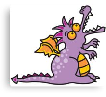 Magic Dragon :: Purple Canvas Print