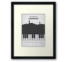 No192 My Casablanca minimal movie poster Framed Print