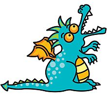 Magic Dragon :: Turquoise Photographic Print