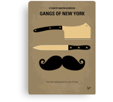 No195 My Gangs of New York minimal movie poster Canvas Print