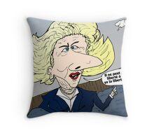 Margaret THATCHER caricature Throw Pillow