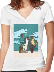 Bernie!!! Women's Fitted V-Neck T-Shirt