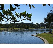 Pretty Park & Lake! Caboolture, Queensland. Photographic Print